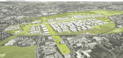 Perspektive Rahmenplan Hubland im Schrägluftbild Bytomsky