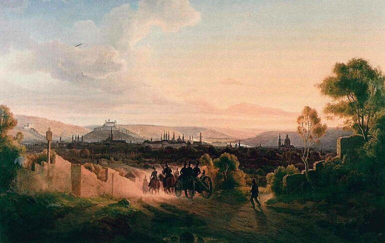 19. Jahrhundert: (Bild links) Truppenübungsplatz